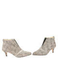 Womens Beige Spotted Pony Brandi Pointed Toe Bootie 5