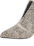 Womens Beige Spotted Pony Brandi Pointed Toe Bootie 6