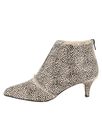Womens Beige Spotted Pony Brandi Pointed Toe Bootie 7
