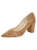 Womens Beige Spotted Pony Kay
