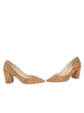 Womens Beige Spotted Pony Kay 5