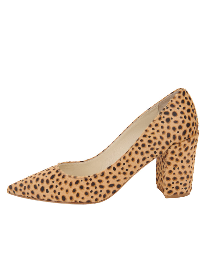 Womens Beige Spotted Pony Kay 7
