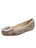 Womens Beige Spotted Pony Cloud Square Toe Flat Alternate View