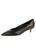 Womens Black Croc Leather Born Pointed Toe Kitten Heel Alternate View
