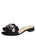 Womens Black Grosgrain Yolanda Embellished Sandal Alternate View