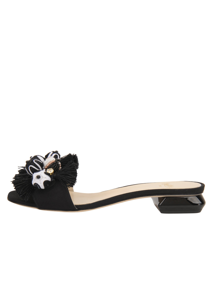 d481469916b9 Butter Shoes - Yolanda Embellished Sandal - Black Grosgrain