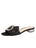 Womens Black Leather Yardena Embellished Sandal Alternate View