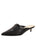 Womens Black Leather Bablina Kitten Heel Mule Alternate View
