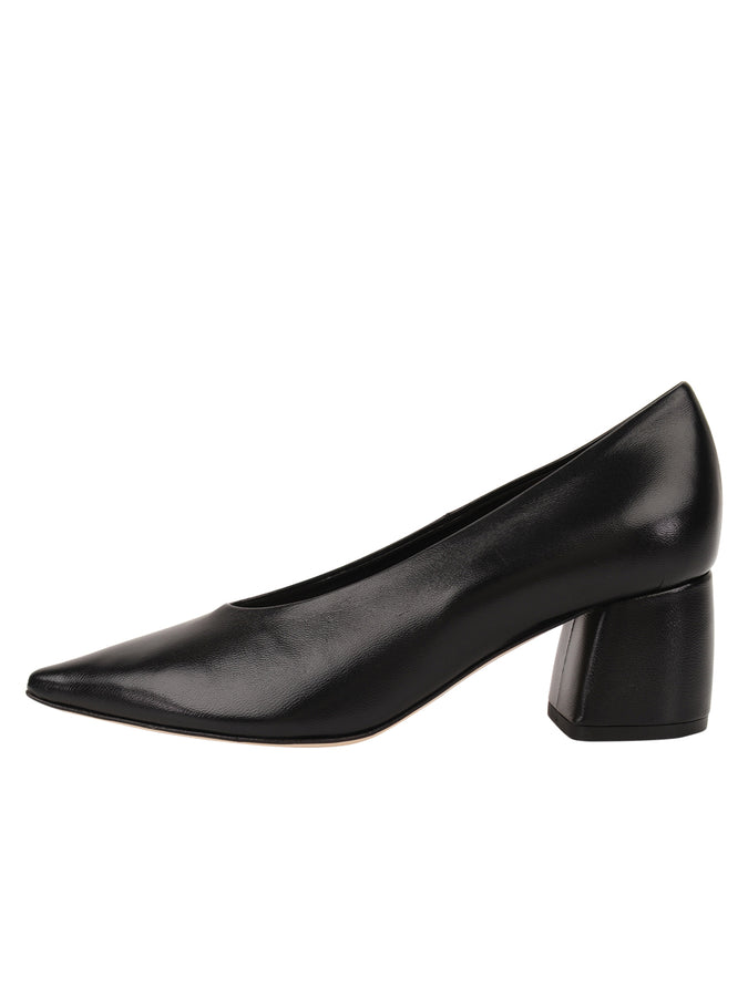 Womens Black Leather Whitney Pointed Toe Pump 7