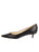 Womens Black Nappa Born Pointed Toe Kitten Heel 7