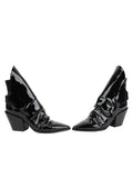 Womens Black Patent Leather Jaegar Bootie 5