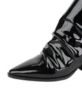 Womens Black Patent Leather Jaegar Bootie 6