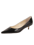 Womens Black Patent Born Pointed Toe Kitten Heel