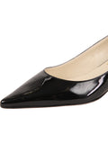 Womens Black Patent Born Pointed Toe Kitten Heel 6