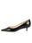 Womens Black Patent Born Pointed Toe Kitten Heel 7