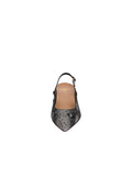 Womens Black Pearl Sadetta Pointed Toe Slingback 4