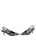 Womens Black Pearl Sadetta Pointed Toe Slingback 5