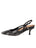 Womens Black Pearl Sadetta Pointed Toe Slingback 7