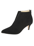 Womens Black Suede Brandi Pointed Toe Bootie
