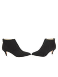 Womens Black Suede Brandi Pointed Toe Bootie 5