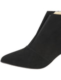 Womens Black Suede Brandi Pointed Toe Bootie 6