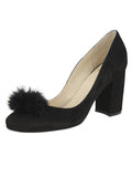 Womens Black Suede Piper