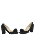 Womens Black Suede Piper 5