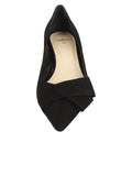Womens Black Suede Bliss Kitten Heel 4