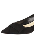 Womens Black Suede Bliss Kitten Heel 6