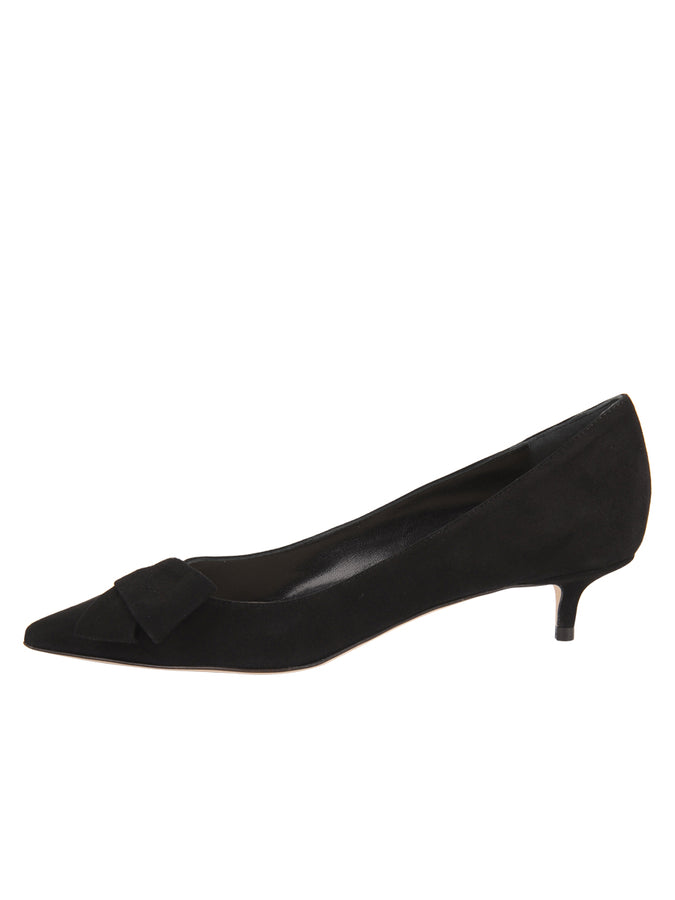 Womens Black Suede Bliss Kitten Heel 7