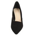Womens Black Suede Esty Pointed Toe Pump 4