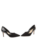 Womens Black Suede Esty Pointed Toe Pump 5