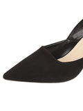 Womens Black Suede Esty Pointed Toe Pump 6