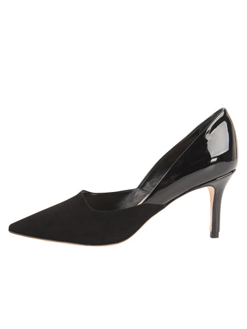 Womens Black Suede Esty Pointed Toe Pump 7