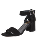 Womens Black Suede Feline