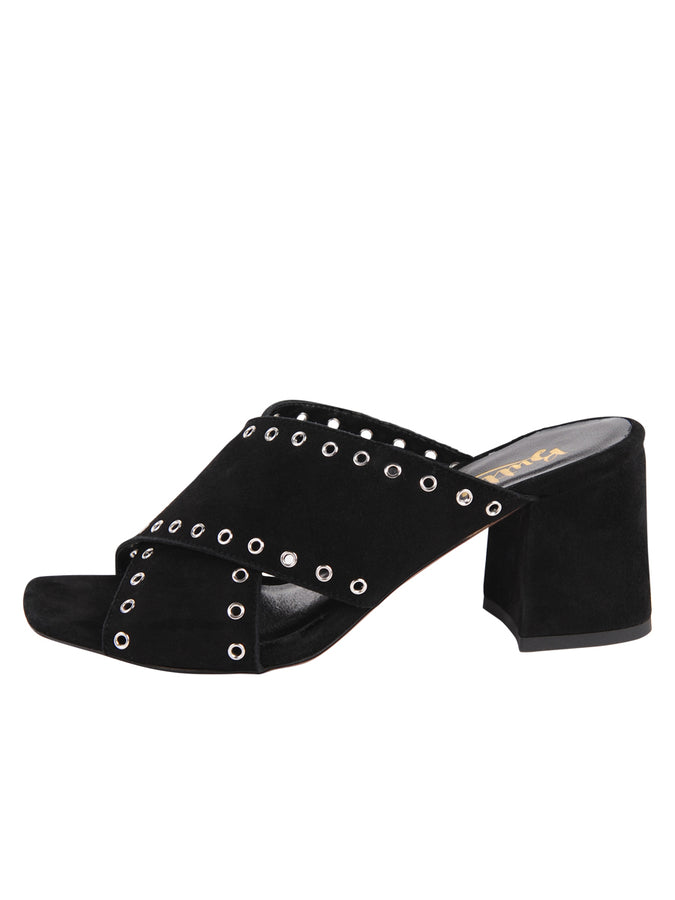 Womens Black Suede Flair 7
