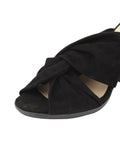 Womens Black Suede Hannah 6
