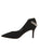Womens Black Suede Kara Pointed Toe Pump 7