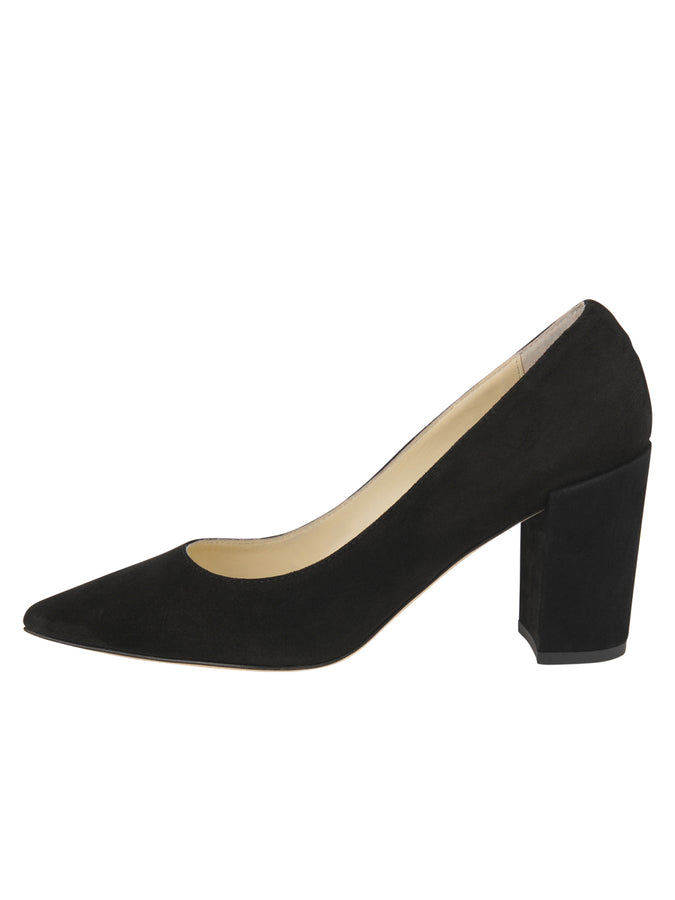 Womens Black Suede Kay 7