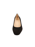 Womens Black Suede Novella Block Heeled Pump 4