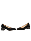 Womens Black Suede Novella Block Heeled Pump 5