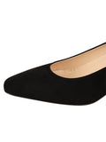 Womens Black Suede Novella Block Heeled Pump 6