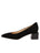 Womens Black Suede Novella Block Heeled Pump 7