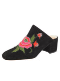 Womens Black Suede Salerno