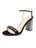 Womens Black Suede w/ Striped Heel Helena Alternate View