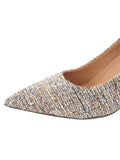 Womens Black Tweed Eloisee Pointed Toe Pump 6