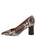 Womens Black/White Snake Eloisee Pointed Toe Pump 7