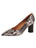 Womens Black/White Snake Eloisee Pointed Toe Pump Alternate View