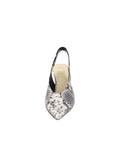 Womens Black/White Snake Kaysha Pointed Toe Pump 4