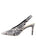 Womens Black/White Snake Kaysha Pointed Toe Pump 7